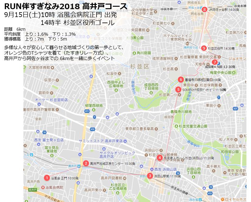 RUN伴すぎなみ 9月15日(土)午前10時-午後3時に開催!