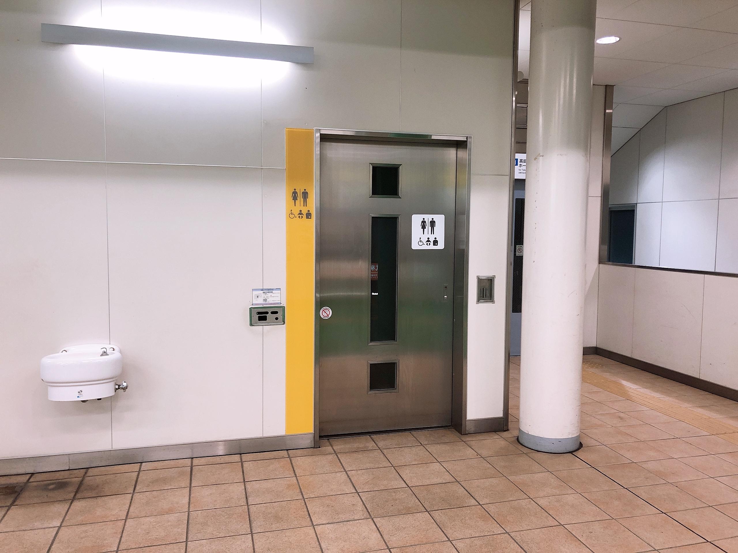 西武柳沢駅に誰でもトイレがありました!