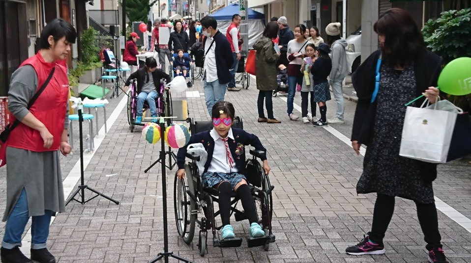 今年も「車いすチャレンジ」体験試乗会を商店街でしました!